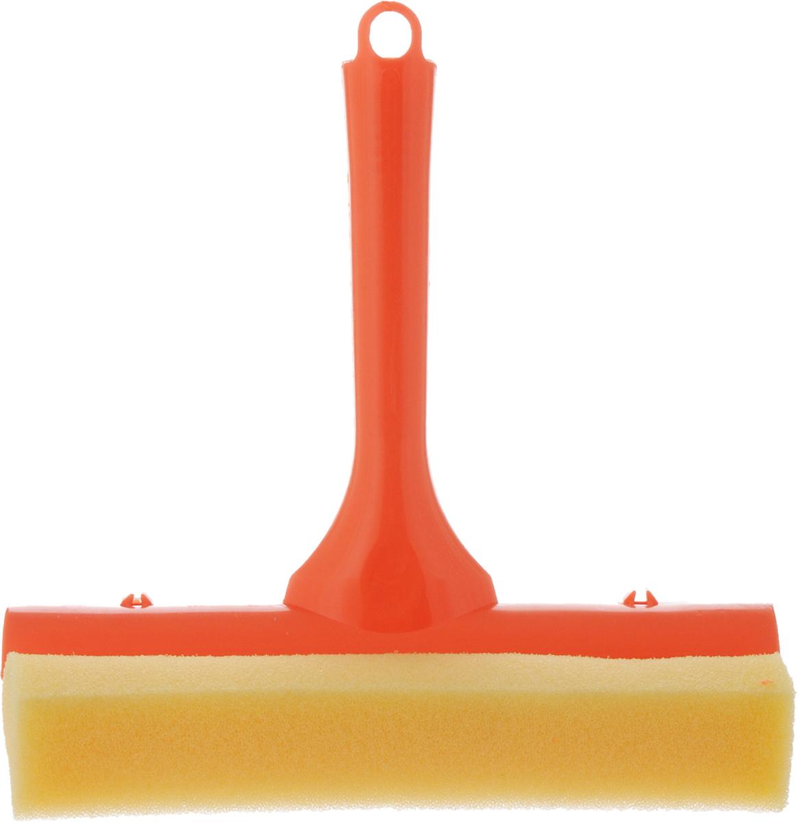 Стеклоочиститель York, с водосгоном, цвет: оранжевый, 19,5 см8401_оранжевыйСтеклоочиститель York, выполненный из сложных полимеров, поролона и резины, станет незаменимым помощником при уборке. Он стирает жидкость со стекла благодаря мягкой губке, а для полного вытирания имеется резиновый водосгон. С помощью регулируемого лезвия стеклоочистителя можно подобрать необходимую длину. Длина ручки: 16 см. Ширина рабочей поверхности: 19,5 см.