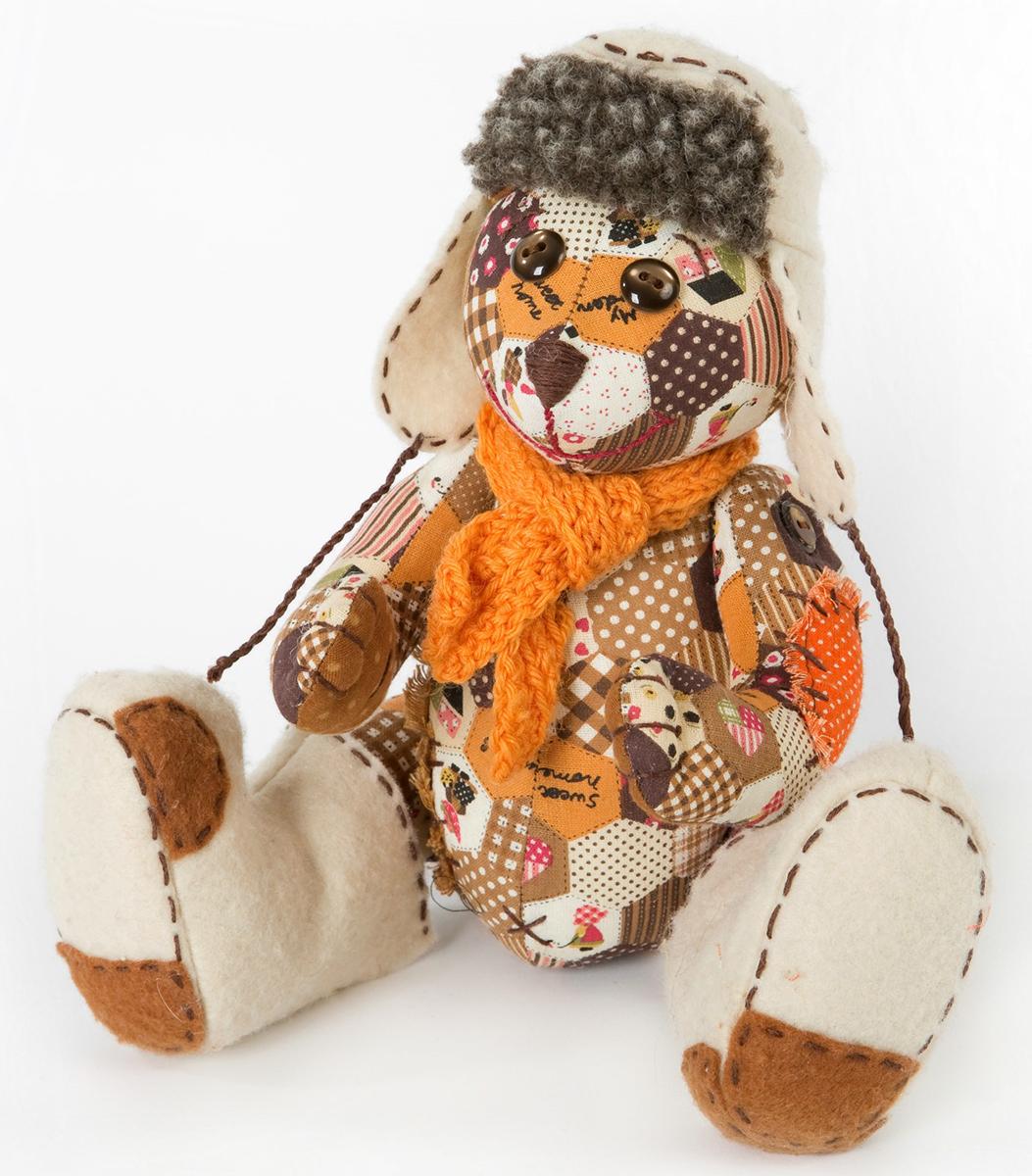 Набор для создания игрушки Перловка ПотапычПРМ601натуральный плотный хлопок пр-во США, нитки для вышивания и декорирования, лента для декорирования, листы с выкройками . Дополнительно понадобится: синтепон или синтепух и немного перловой крупы.