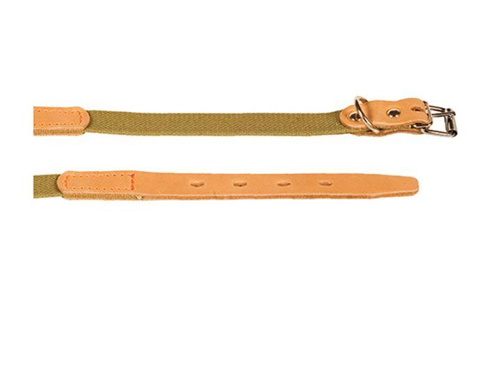 Ошейник брезентовый Каскад Классика, с кожей, ширина 20 мм, обхват шеи 31-39 см120092