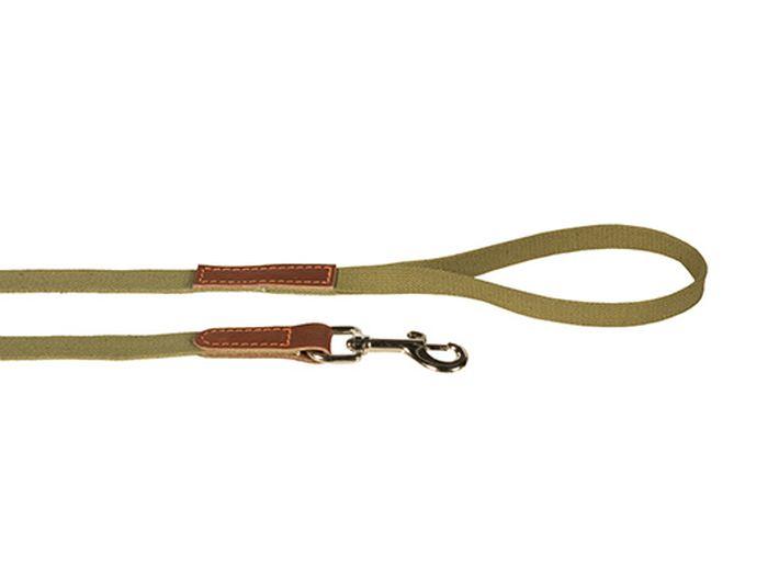 Поводок брезентовый Каскад Классика, комбинированный, с кожей, ширина 20 мм, длина 3 м2120015