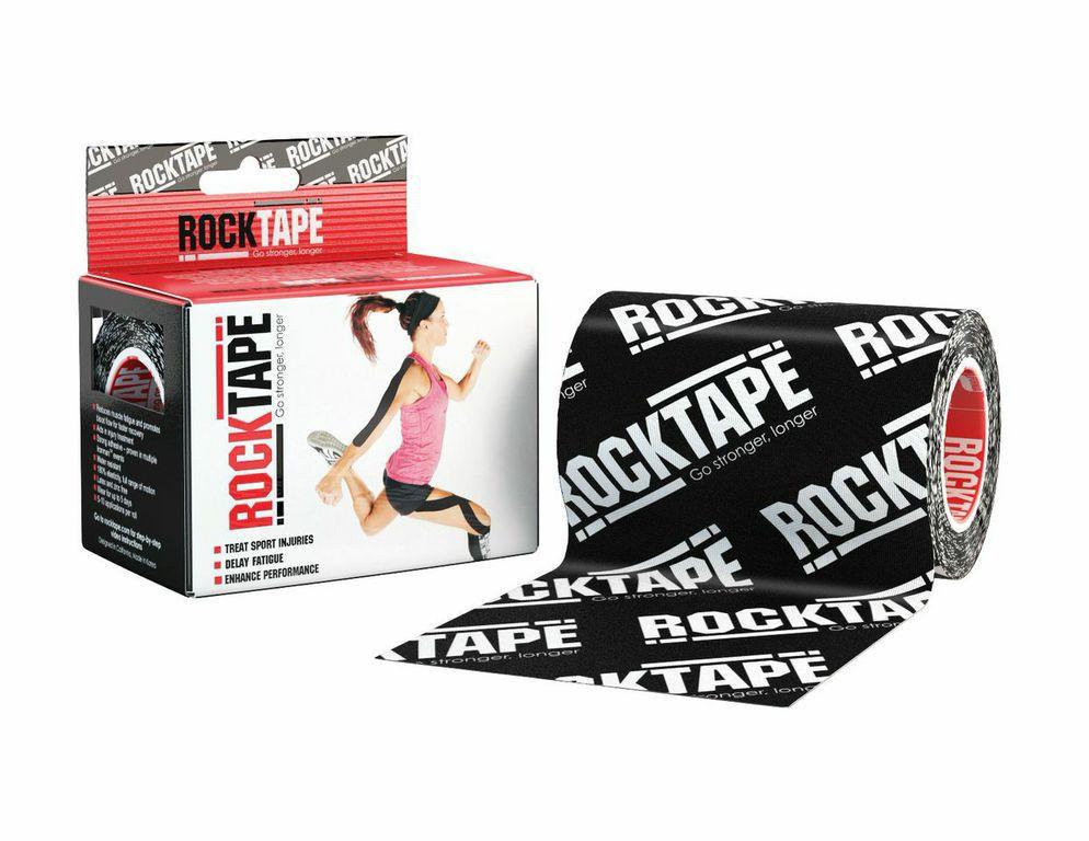 Rocktape Кинезиотейп Big Daddy, цвет: черный логотип, 10см x 5мRCT100-BKLOGO-MB