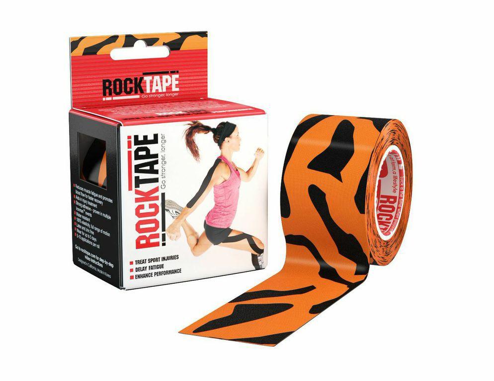 Кинезиотейп Rocktape Design, цвет: оранжевый, черный, 5 x 500 смRCT100-TGR-OSКинезиотейп Rocktape Design предназначен для снятия отеков и рассасывания гематом. Уменьшает мышечную усталость и способствует притоку крови для более быстрого восстановления. Не содержит латекса и цинка. 180% эластичности.