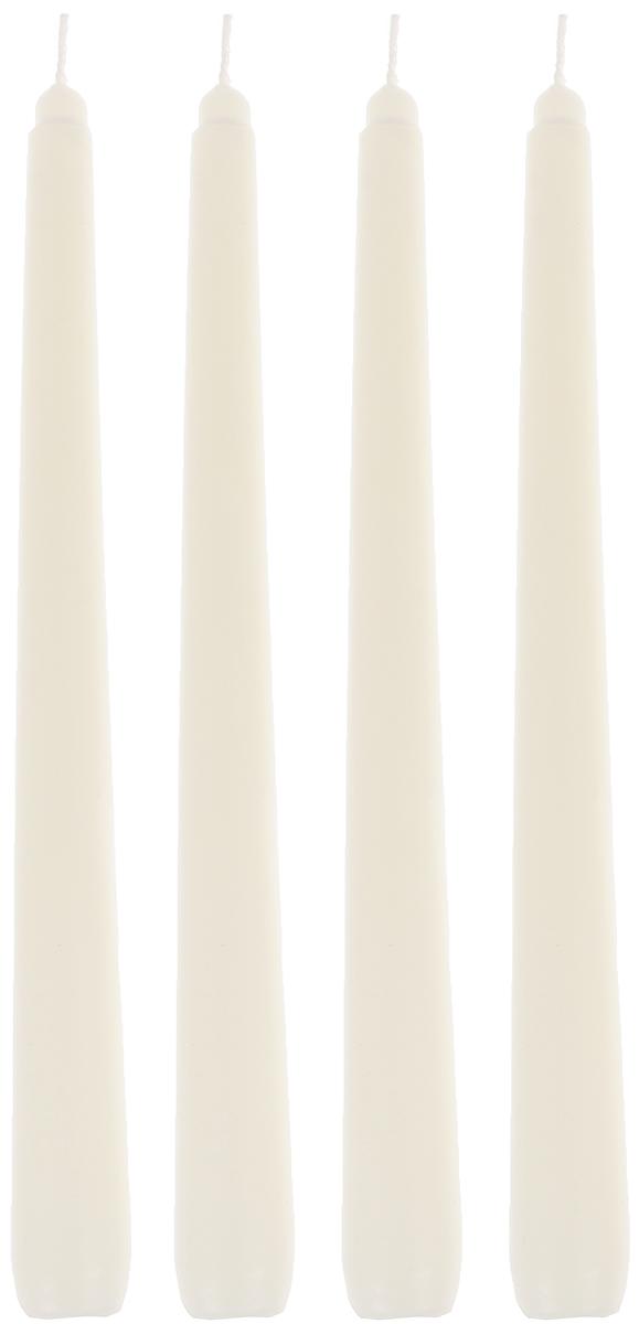 Набор декоративных свечей Proffi Home Chameleon, 4 штPH3742Набор Proffi Home Chameleon, состоящий из 4 свечей конической формы, выполнен из парафина в античном стиле. Изделие порадует вас ярким дизайном. Такую свечу можно поставить в любое место, и она станет ярким украшением интерьера. Набор свечей Proffi Home создаст незабываемую атмосферу, будь то торжество, романтический вечер или будничный день. Высота свечи (без учета фитиля): 24 см.