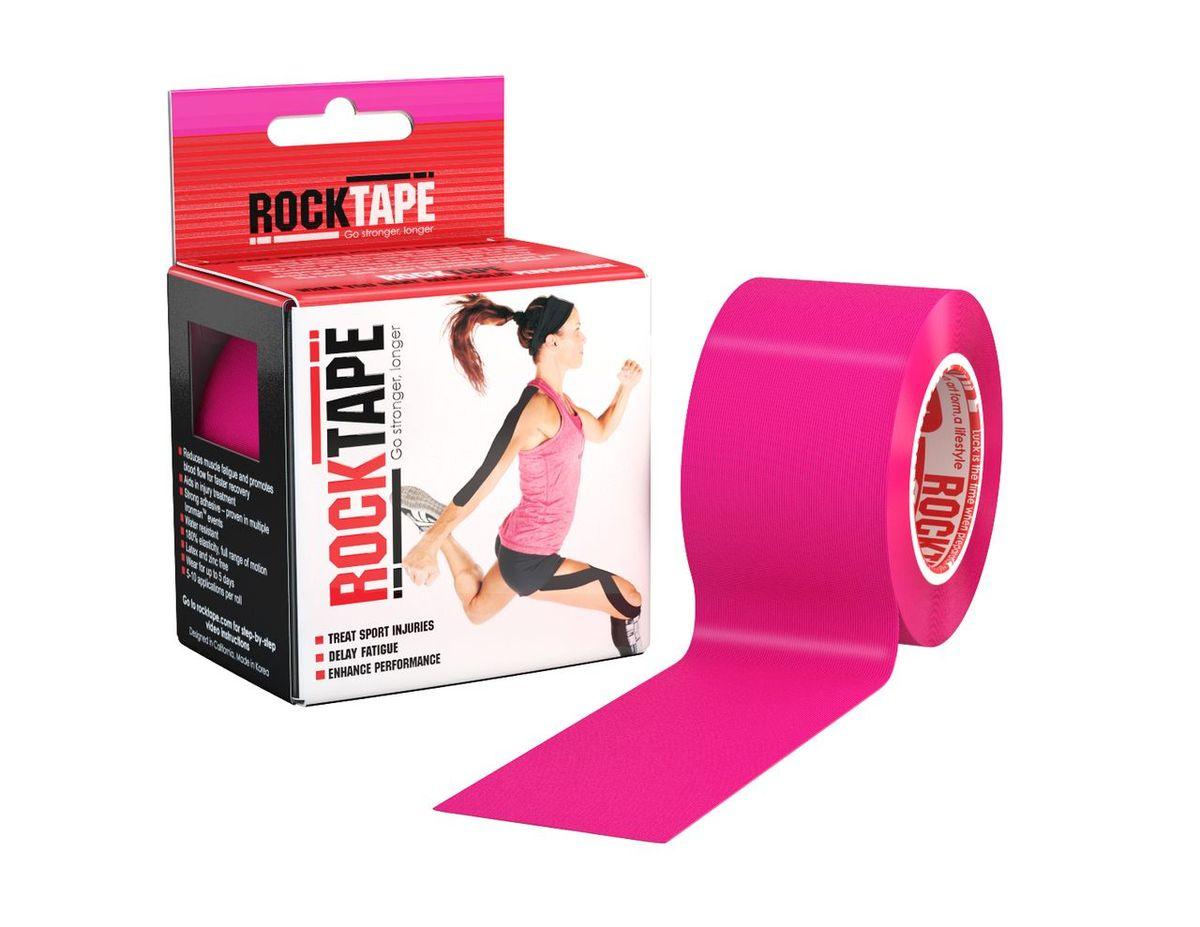 Rocktape Кинезиотейп Classic, цвет: розовый, 5см х 5мRCT100-PK-OS