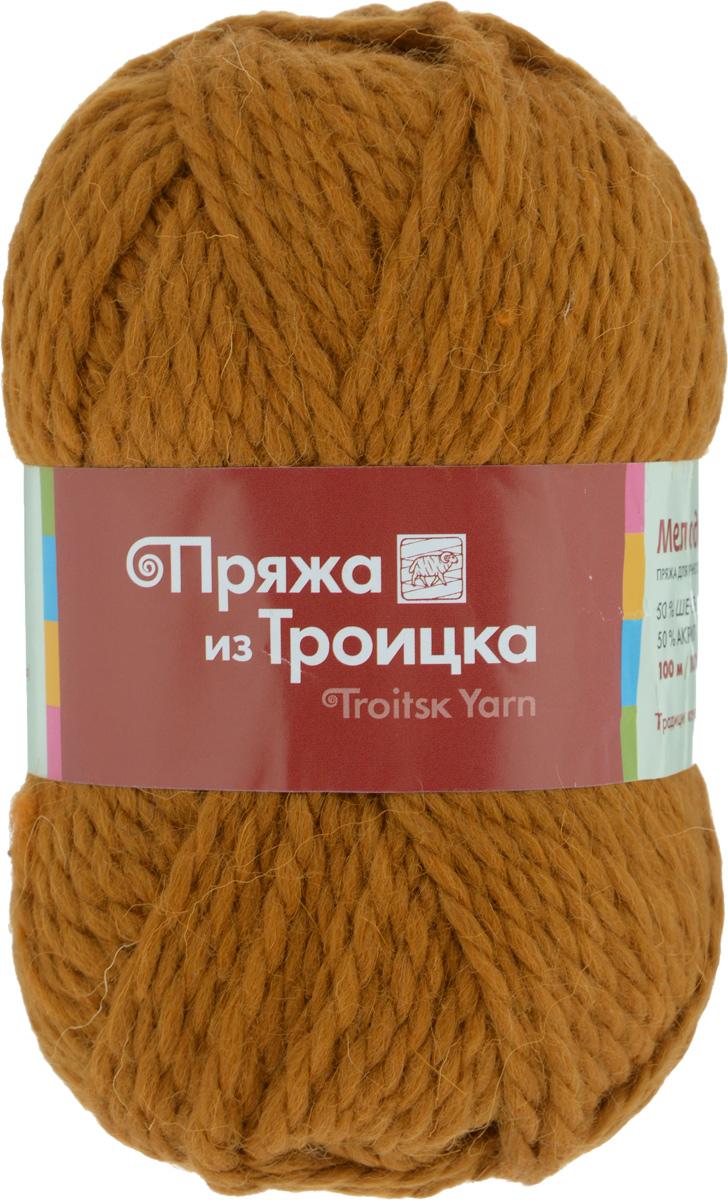 Пряжа для вязания Мелодия, цвет: золотистый (1290), 100 м, 100 г, 10 шт366020_1290Классическая пряжа Мелодия имеет среднюю толщину нити и состоит из 50% шерсти и 50% акрила. Подходит для создания детских вещей на осень. Пуловеры, платья, пледы, шапки и шарфы из этой пряжи отлично держат форму и прекрасно согреют вас в холодную погоду. Благодаря составу и скрутке, петли отлично ложатся одна к другой, вязаное полотно получается ровное и однородное. Пряжа рассчитана на любой уровень мастерства, но особенно понравится начинающим мастерицам - благодаря толстой нити пряжа Мелодия позволяет быстро связать простую вещь. Структура и состав пряжи максимально комфортны для вязания. Состав: 50% акрил, 50% шерсть.