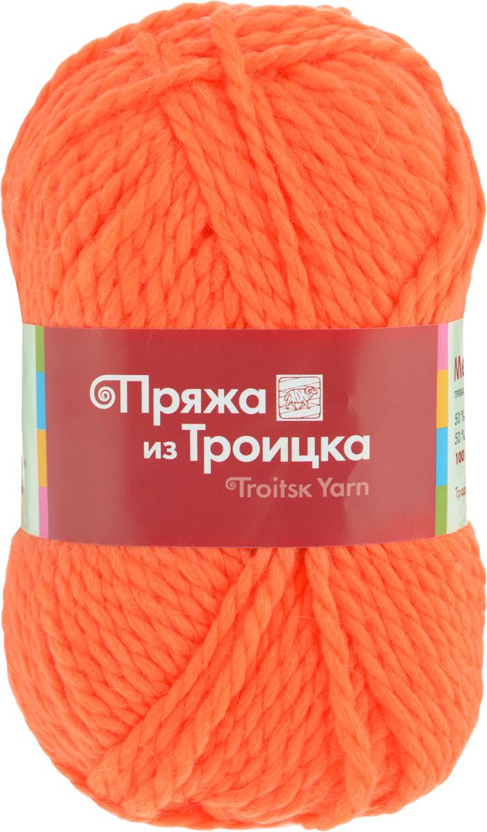 Пряжа для вязания Мелодия, цвет: оранжевый (1624), 100 м, 100 г, 10 шт366020_1624Классическая пряжа Мелодия имеет среднюю толщину нити и состоит из 50% шерсти и 50% акрила. Подходит для создания детских вещей на осень. Пуловеры, платья, пледы, шапки и шарфы из этой пряжи отлично держат форму и прекрасно согреют вас в холодную погоду. Благодаря составу и скрутке, петли отлично ложатся одна к другой, вязаное полотно получается ровное и однородное. Пряжа рассчитана на любой уровень мастерства, но особенно понравится начинающим мастерицам - благодаря толстой нити пряжа Мелодия позволяет быстро связать простую вещь. Структура и состав пряжи максимально комфортны для вязания. Состав: 50% акрил, 50% шерсть. Рекомендуемые спицы: 6 мм.