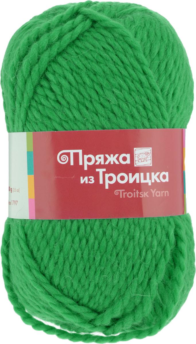 Пряжа для вязания Мелодия, цвет: яркая зелень (0723), 100 м, 100 г, 10 шт366020_0723Классическая пряжа Мелодия имеет среднюю толщину нити и состоит из 50% шерсти и 50% акрила. Подходит для создания детских вещей на осень. Пуловеры, платья, пледы, шапки и шарфы из этой пряжи отлично держат форму и прекрасно согреют вас в холодную погоду. Благодаря составу и скрутке, петли отлично ложатся одна к другой, вязаное полотно получается ровное и однородное. Пряжа рассчитана на любой уровень мастерства, но особенно понравится начинающим мастерицам - благодаря толстой нити пряжа Мелодия позволяет быстро связать простую вещь. Структура и состав пряжи максимально комфортны для вязания. Состав: 50% акрил, 50% шерсть.