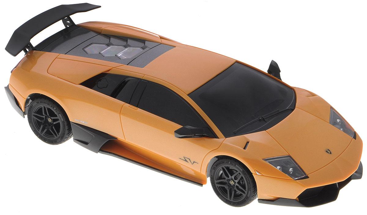 1TOY Радиоуправляемая модель Lamborghini Murcielago LP670-4 цвет желтый