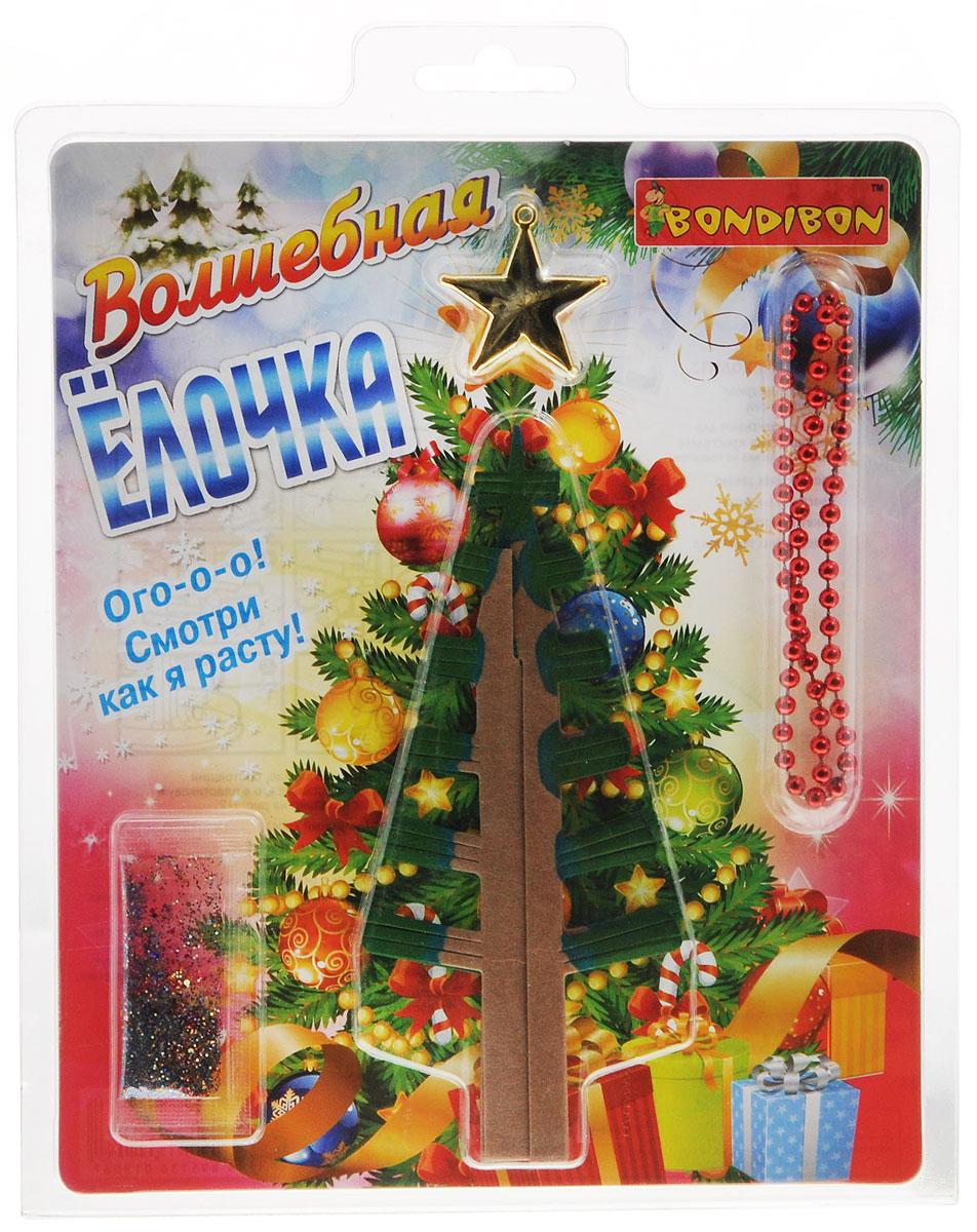 Bondibon Набор для творчества Волшебная елочкаВВ1304Дети обожают творчество, а вдвойне приятно, если созданная вещь сможет стать новогодним подарком или замечательным предметом декора! Игрушечную фигурку елочки каждый ребенок сможет сделать сам! Для этого в настоящий набор входит бумажный каркас, а также специальный реактив для выращивания кристаллов, которые и примут необходимую форму! Эта игрушка может быть использована в украшении комнаты или новогодней елки. Не откажите себе и своим близким в удовольствии самостоятельно изготовить прекрасный новогодний аксессуар!
