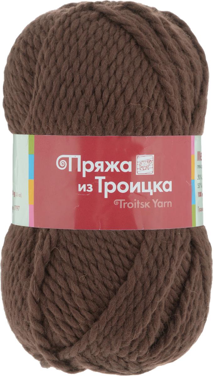 Пряжа для вязания Мелодия, цвет: молочный шоколад (1251), 100 м, 100 г, 10 шт366020_1251Классическая пряжа Мелодия имеет среднюю толщину нити и состоит из 50% шерсти и 50% акрила. Подходит для создания детских вещей на осень. Пуловеры, платья, пледы, шапки и шарфы из этой пряжи отлично держат форму и прекрасно согреют вас в холодную погоду. Благодаря составу и скрутке, петли отлично ложатся одна к другой, вязаное полотно получается ровное и однородное. Пряжа рассчитана на любой уровень мастерства, но особенно понравится начинающим мастерицам - благодаря толстой нити пряжа Мелодия позволяет быстро связать простую вещь. Структура и состав пряжи максимально комфортны для вязания. Состав: 50% акрил, 50% шерсть. Рекомендуемые спицы: 6 мм.