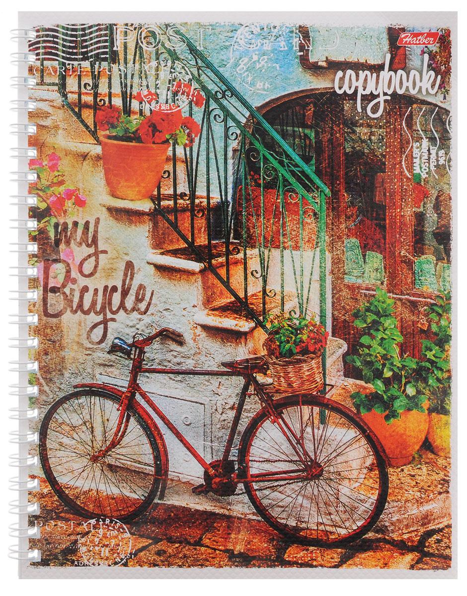 Hatber Тетрадь Лето на велосипеде 48 листов в линейку цвет красный
