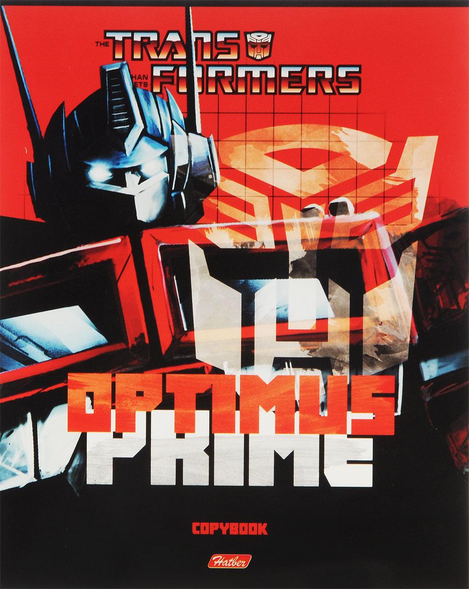 Hatber Тетрадь Трансформеры Optimus Prime 48 листов в клетку цвет черный красный