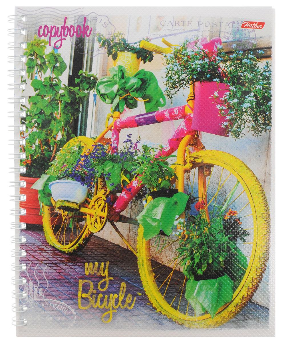 Hatber Тетрадь Лето на велосипеде 48 листов в линейку цвет желтый розовый