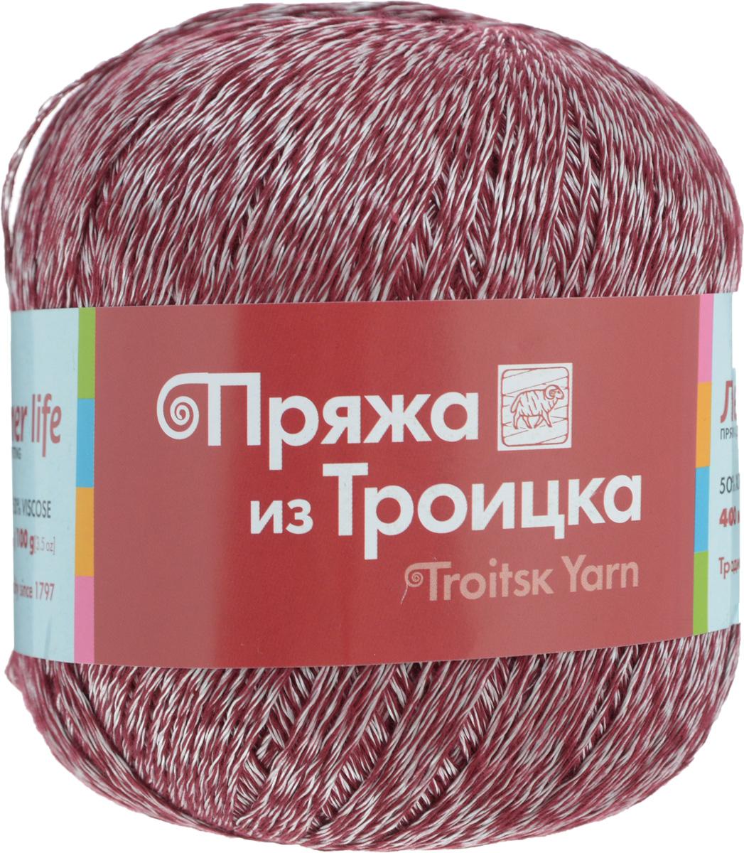 Пряжа для вязания Летняя, цвет: вишневый, белый (0836), 400 м, 100 г, 10 шт366099_0836Легкая, шелковистая, приятная телу пряжа Летняя выполнена из высококачественного хлопка и вискозы. Она идеально подходит для сетчатых изделий и узоров, связанных крючком. Мастерицы рекомендуют использовать для вязания спицы или крючок с закругленными наконечниками: если нить неосторожно зацепить, то она тотчас пушится. Пряжа Летняя позволяет создавать вещи, которые можно надеть даже в жаркий день: такая одежда выглядит стильно и при этом позволяет чувствовать себя комфортно. Поскольку в состав пряжи входит хлопок, то после стирки изделие не теряет форму, но в горячей воде может немного сесть. Состав: 50% хлопок, 50% вискоза.