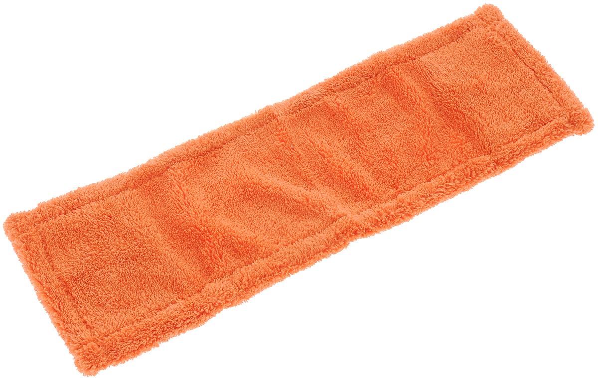 Насадка для швабры York Классик, сменная, цвет: оранжевый. 81098109_оранжевыйСменная насадка для швабры York Классик изготовлена из микрофибры (полиамид, полиэстер). Микрофибра обладает высокой износостойкостью, не царапает поверхности и отлично впитывает влагу. Насадка отлично удаляет большинство загрязнений. Насадка идеально подходит для мытья всех видов напольных покрытий. Она не оставляет разводов и ворсинок. Сменная насадка для швабры York Классик станет незаменимой в хозяйстве. Насадку можно стирать при температуре 40°С. Размер насадки: 40 х 14 х 1,5 см.