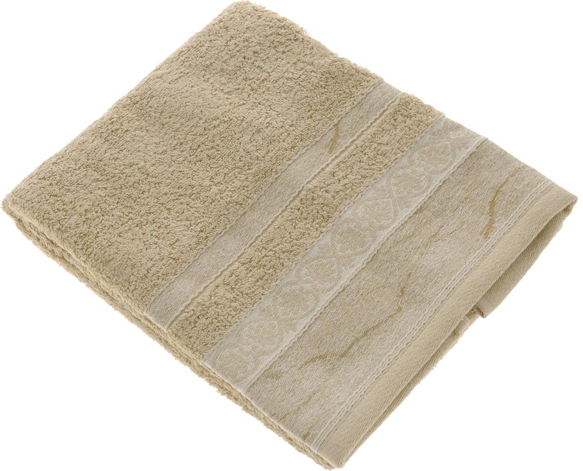 Полотенце махровое TAC Virginia, цвет: бежевый, 50 x 90 см0973-84214Махровое полотенце TAC Virginia выполнено из натуральной махровой ткани (100% хлопок). Изделие отлично впитывает влагу, быстро сохнет, сохраняет яркость цвета и не теряет форму даже после многократных стирок. Полотенце очень практично и неприхотливо в уходе. Такое полотенце прекрасно дополнит интерьер ванной комнаты.
