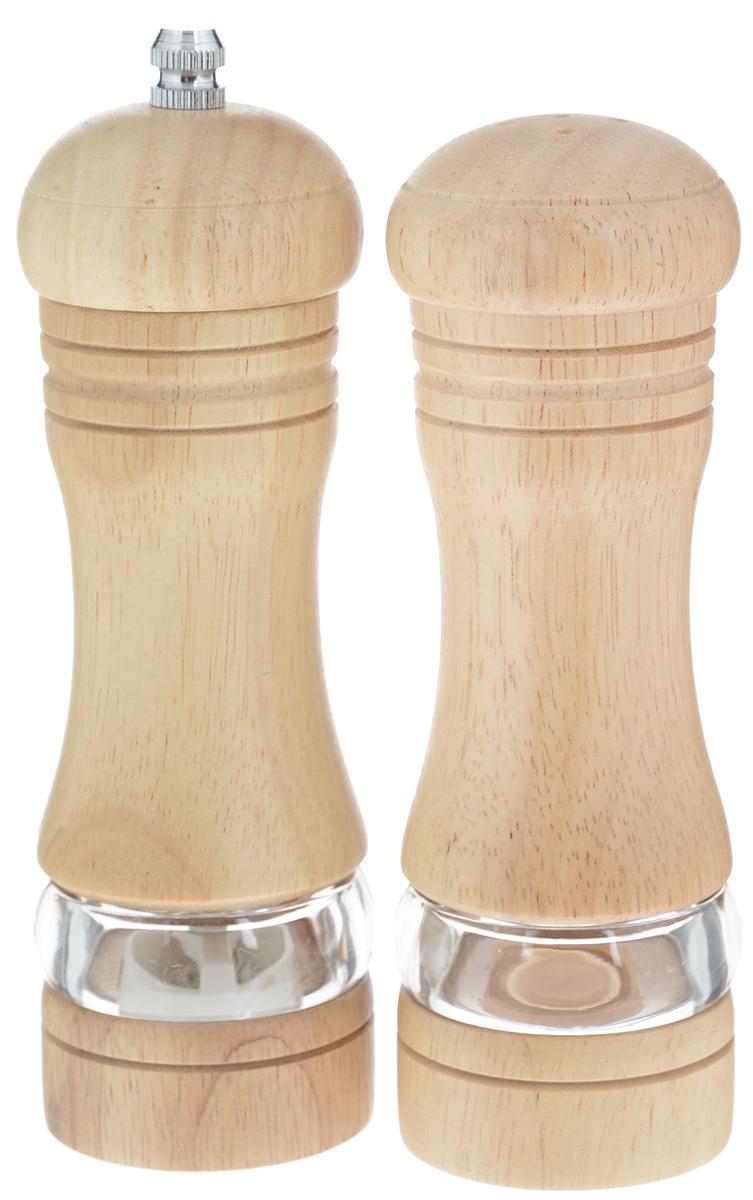 Набор для специй Mayer & Boch, 2 предмета. 2387923879Набор для специй Mayer & Boch прекрасно подходит для сервировки стола и использования на кухне. Он состоит из солонки и перцемолки. Емкости надолго сохранят специи свежими и ароматными. Изделия выполнены из дерева и снабжены прозрачной акриловой емкостью, которая позволяет видеть содержимое. Перцемолка с механизмом помола из нержавеющей стали идеально подходит для перца горошком, крупных кристаллов соли и других немолотых специй. Необычный оригинальный дизайн стильно дополнит интерьер кухни. Наслаждайтесь приготовлением пищи вместе с набором для специй Mayer & Boch. Размер емкости для соли: 5 х 5 х 15,5 см. Размер перцемолки: 5 х 5 х 17 см.