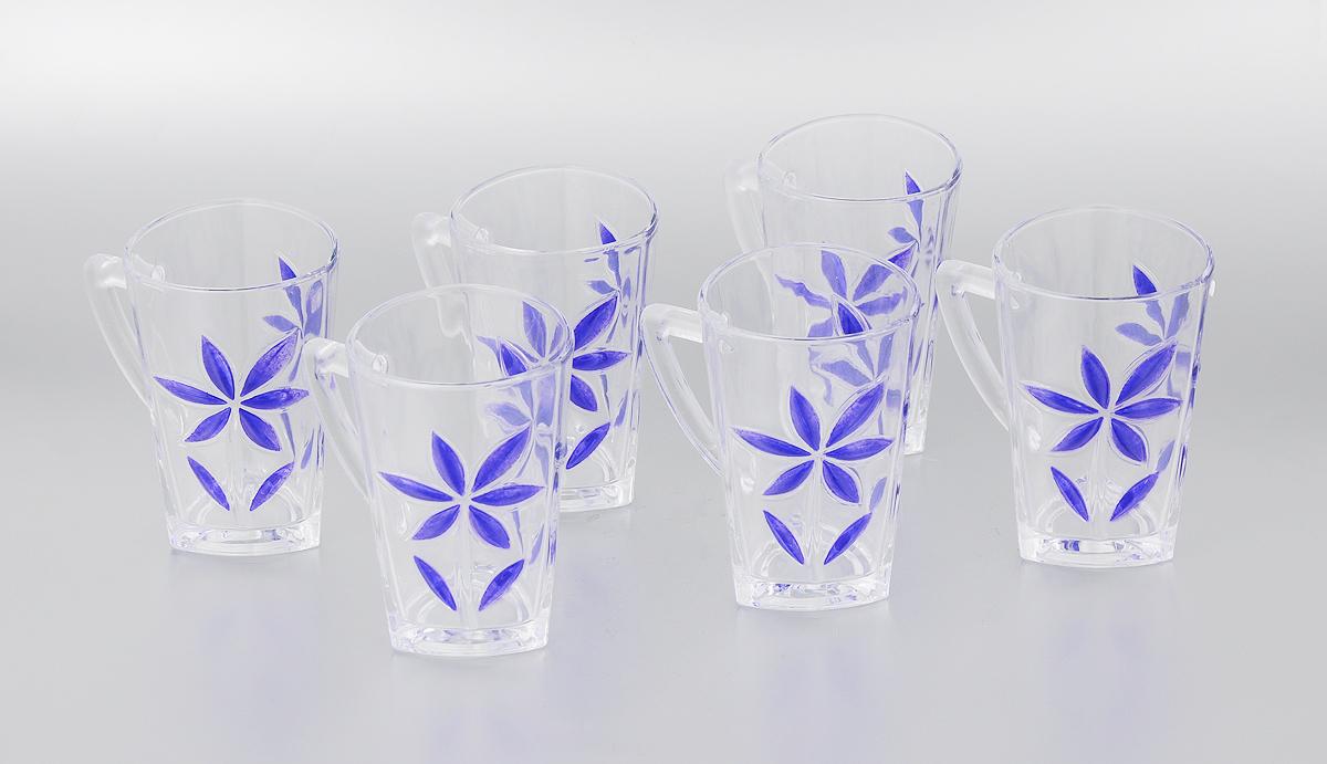 Набор стаканов Loraine, 255 мл, 6 шт24085Набор Loraine состоит из шести стаканов. Изделия выполнены из высококачественного стекла. Предметы набора имеют прозрачную поверхность и декорированы рельефными изображениями в виде цветов. Они излучают приятный блеск и издают мелодичный звон. Набор Loraine прекрасно оформит интерьер кабинета или гостиной и станет отличным дополнением бара. Такой набор также станет хорошим подарком к любому случаю. Не рекомендуется мыть в посудомоечной машине. Диаметр стакана (по верхнему краю): 7 см. Высота стакана: 11 см. Объем стакана: 255 мл.