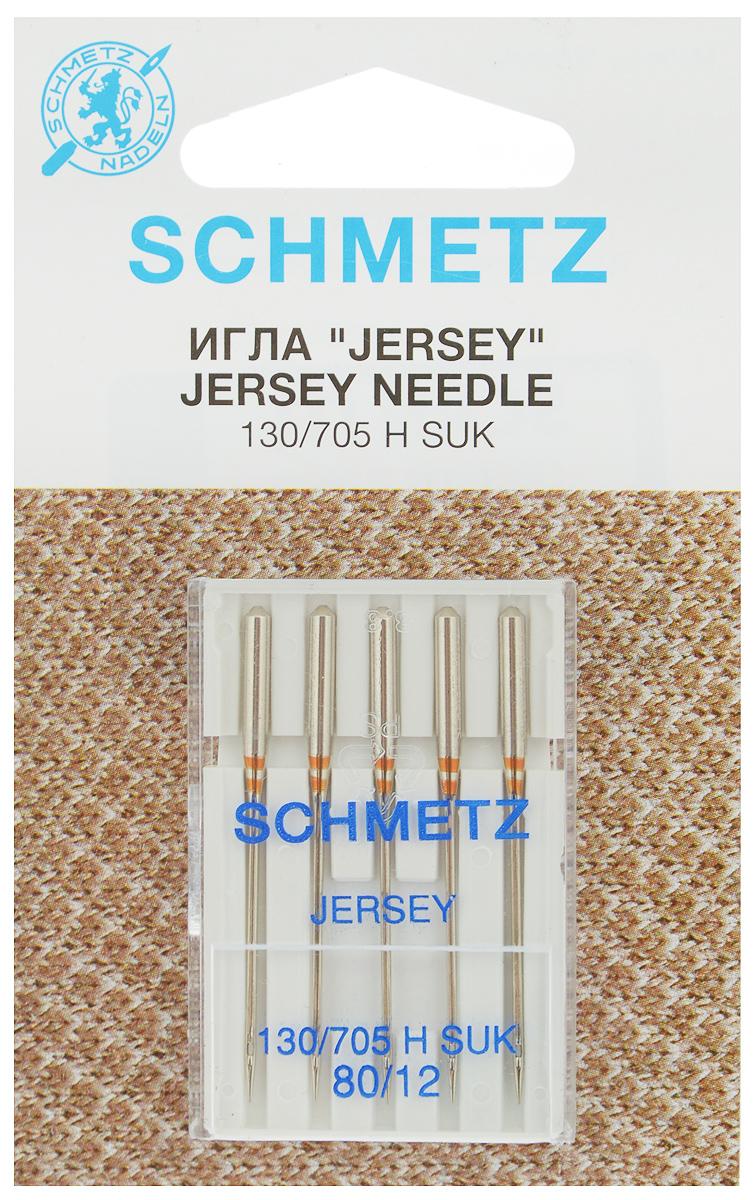 Набор игл Schmetz Jersey, №80, 5 шт22:15.FB2.VCSНабор Schmetz Jersey состоит из пяти игл для бытовых швейных машин. Изделия выполнены из высококачественной стали. Предназначены для вязаных изделий и трикотажа. Комплектация: 5 шт. Размер игл: №80. Система игл: 130/705 H SUK.