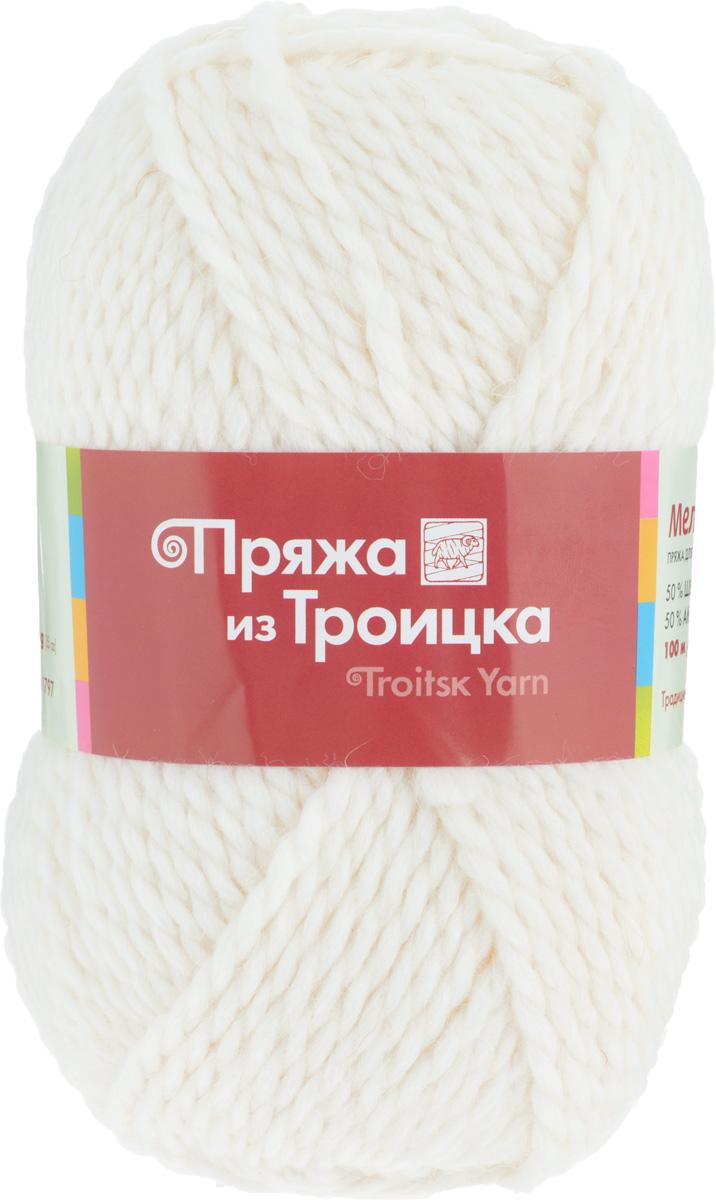 Пряжа для вязания Мелодия, цвет: отбелка (0230), 100 м, 100 г, 10 шт366020_0230Классическая пряжа Мелодия имеет среднюю толщину нити и состоит из 50% шерсти и 50% акрила. Подходит для создания детских вещей на осень. Пуловеры, платья, пледы, шапки и шарфы из этой пряжи отлично держат форму и прекрасно согреют вас в холодную погоду. Благодаря составу и скрутке, петли отлично ложатся одна к другой, вязаное полотно получается ровное и однородное. Пряжа рассчитана на любой уровень мастерства, но особенно понравится начинающим мастерицам - благодаря толстой нити пряжа Мелодия позволяет быстро связать простую вещь. Структура и состав пряжи максимально комфортны для вязания. Состав: 50% акрил, 50% шерсть. Рекомендуемые спицы: 6 мм.