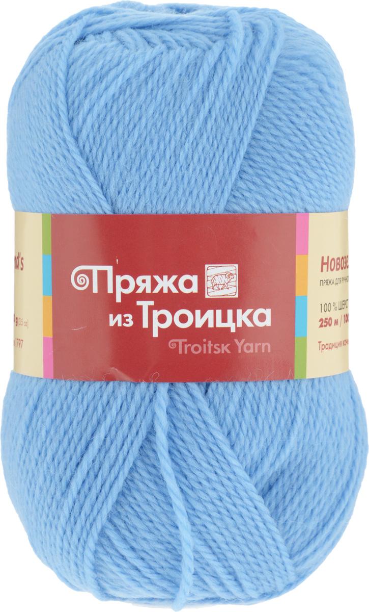 Пряжа для вязания Новозеландская, цвет: светло-голубой (0300), 250 м, 100 г, 10 шт366010_0300Пряжа для вязания Новозеландская изготовлена из плотно скрученных нитей шерсти. Изделия из этой пряжи не линяют и сохраняют после стирки не только цвет, но и форму. Пряжа идеально подходит для вязания шарфов, шапок, варежек, пуловеров, шалей. С такой пряжей процесс вязания превратится в настоящее удовольствие, а готовое изделие подарит уют и комфорт. Состав: 100% шерсть. Рекомендуемые спицы: 3,25 мм.
