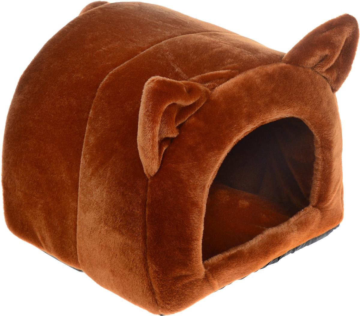 Домик-лежанка Зоомарк Ушастик, цвет: коричневый, 44 х 40 х 36 смД-26Домик-лежанка Зоомарк Ушастик, выполненный из плюша, с непревзойденным дизайном предназначен для кошек и мелких собак. Очень удобен и вместителен. Изделие гармонично украсит интерьер, подчеркнет вашу индивидуальность и будет радовать вас и вашего питомца.