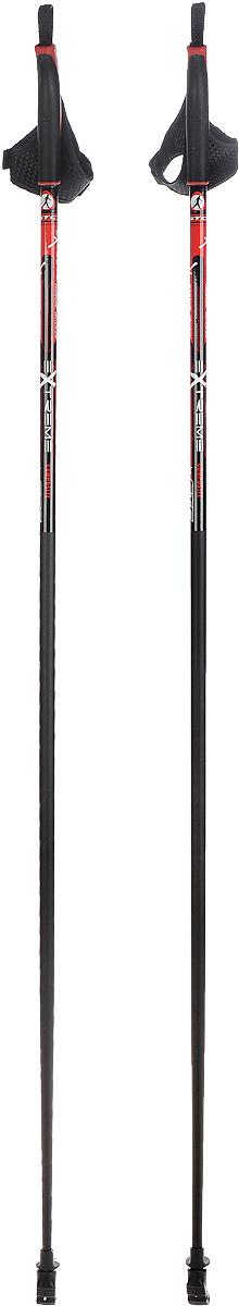 Палки для скандинавской ходьбы STC Extreme, цвет: черный, красный, длина 125 смEXTREME 125_черный/красныйПалки для скандинавской ходьбы STC Extreme обладают отличным запасом прочности, благодаря эргономичным свойствам стеклопластика. Специальный усиленный наконечник и резиновый башмачок придают надежности и долговечности при активном использовании этих палок на абсолютно любых поверхностях и в любое время года. Текстильные петли на ручках делают эксплуатацию более удобной.