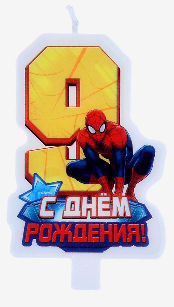 Marvel Свеча для торта С днем рождения Цифра 9 Человек Паук