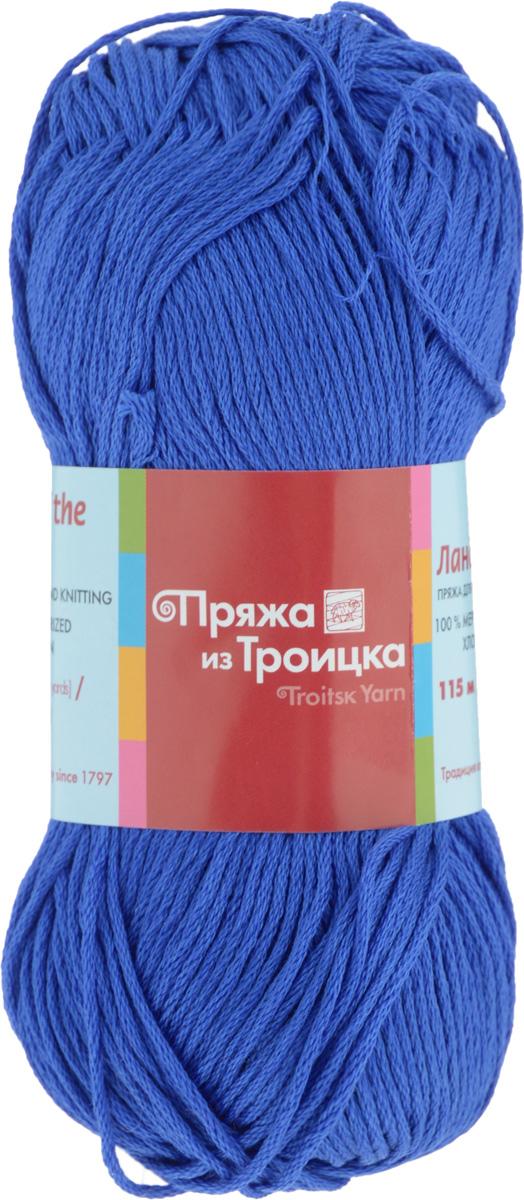 Пряжа для вязания Ландыш, цвет: василек (0176), 115 м, 50 г, 10 шт366131_0176Пряжа Ландыш изготовлена из 100% мерсеризованного хлопка и предназначена для ручного вязания. Пряжа, прошедшая обработку под названием мерсеризация, приобретает блеск, ее легко окрасить в яркие устойчивые цвета. Мерсеризованный хлопок мягкий и шелковистый, он хорошо впитывает влагу. Связанный трикотаж получается легкий, гладкий и красивый. С такой пряжей процесс вязания превратится в настоящее удовольствие, а внешний вид изделий будет привлекать внимание. Рекомендуемый размер спиц: 3 мм. Состав: 100% мерсеризованный хлопок.