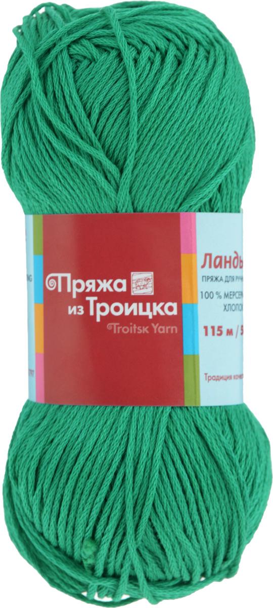 Пряжа для вязания Ландыш, цвет: зеленая бирюза (0754), 115 м, 50 г, 10 шт366131_0754Пряжа Ландыш изготовлена из 100% мерсеризованного хлопка и предназначена для ручного вязания. Пряжа, прошедшая обработку под названием мерсеризация, приобретает блеск, ее легко окрасить в яркие устойчивые цвета. Мерсеризованный хлопок мягкий и шелковистый, он хорошо впитывает влагу. Связанный трикотаж получается легкий, гладкий и красивый. С такой пряжей процесс вязания превратится в настоящее удовольствие, а внешний вид изделий будет привлекать внимание. Рекомендуемый размер спиц: 3 мм. Состав: 100% мерсеризованный хлопок.