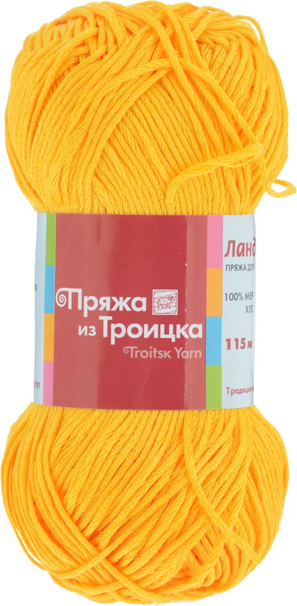 Пряжа для вязания Ландыш, цвет: шафран (0690), 115 м, 50 г, 10 шт366131_0690Пряжа Ландыш изготовлена из 100% мерсеризованного хлопка и предназначена для ручного вязания. Пряжа, прошедшая обработку под названием мерсеризация, приобретает блеск, ее легко окрасить в яркие устойчивые цвета. Мерсеризованный хлопок мягкий и шелковистый, он хорошо впитывает влагу. Связанный трикотаж получается легкий, гладкий и красивый. С такой пряжей процесс вязания превратится в настоящее удовольствие, а внешний вид изделий будет привлекать внимание. Рекомендуемый размер спиц: 3 мм. Состав: 100% мерсеризованный хлопок.