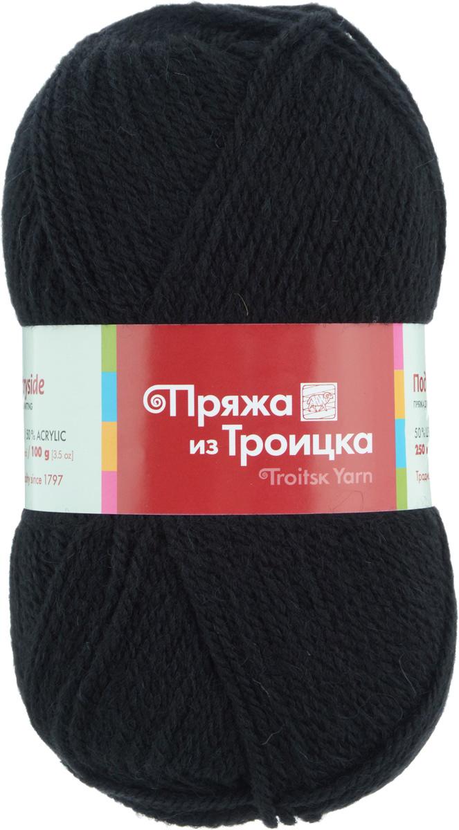 Пряжа для вязания Подмосковная, цвет: черный (0140), 250 м, 100 г, 10 шт366001_0140Пряжа Подмосковная, изготовленная из 50% шерсти и 50% акрила, предназначена для ручного вязания. Несмотря на синтетические волокна изделие сохранило нежность и воздушность, присущую натуральному материалу. Связанный трикотаж не линяет и сохраняет после стирки не только цвет, но и форму. Готовые изделия имеют деликатную мягкую текстуру, изумительную износостойкость и способность сохранять тепло. Пряжа спрядена ровными нитями со слабым кручением. Без труда скроет мелкие недочеты вязки, поэтому она просто идеальна для новичков, желающих набить руку на вязании. С такой пряжей процесс вязания превратится в настоящее удовольствие, а внешний вид изделий подарит эстетическое наслаждение и комфорт. Состав: 50% шерсть, 50% акрил. Рекомендуемый размер спиц: 3,25 мм.