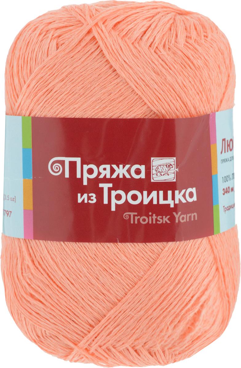 Пряжа для вязания Любимая, цвет: светло-оранжевый (0425), 340 м, 100 г, 10 шт366115_0425Пряжа Любимая состоит из 100% льна. Льняная нить тонкая, поэтому подходит больше для крючка, чем для спиц. Такая пряжа довольно жесткая, износоустойчивая, хорошо держит форму изделия. Особенно хороша для вязания летних шляпок, сумочек, салфеток, вазочек. Состав: 100% лен.