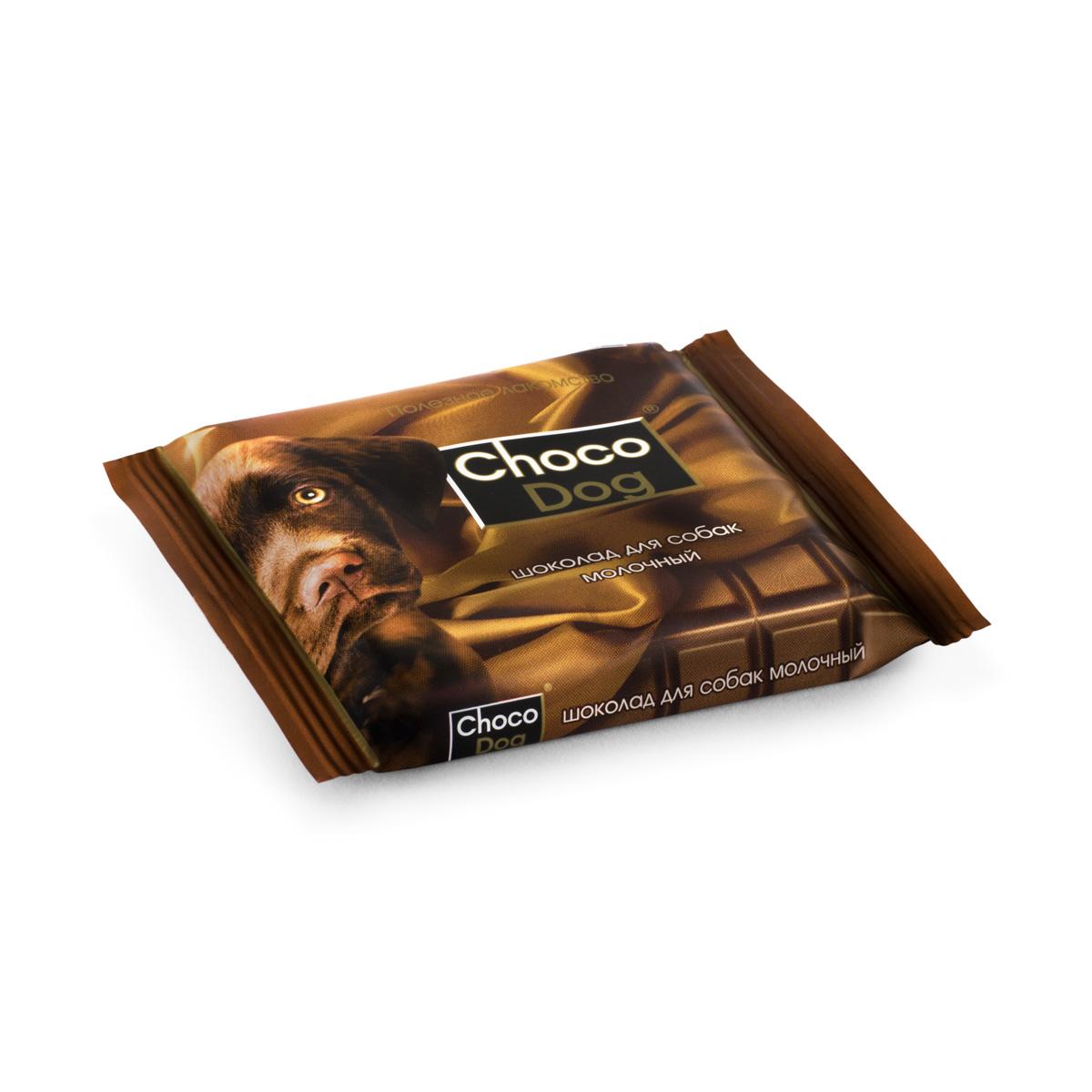 Choco Dog шоколад молочный лакомство для собак, 15г