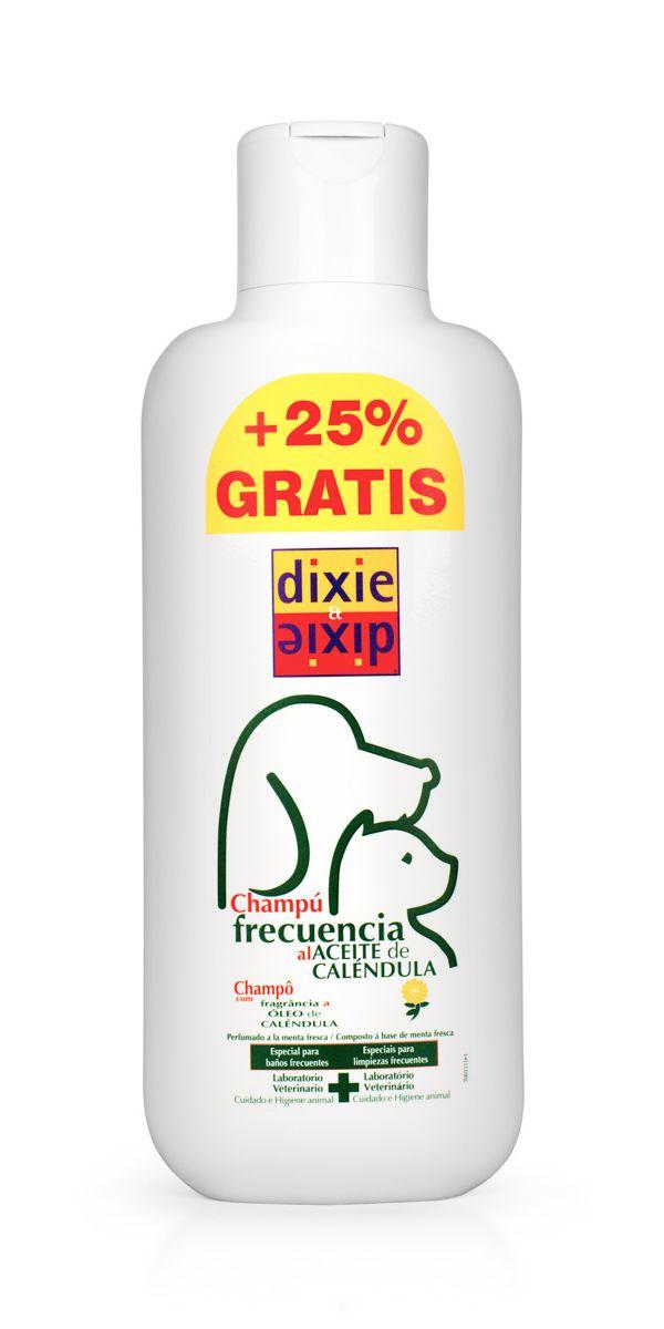 Шампунь частого применения для кошек и собак Dixie, 750 мл8421341201703Ежедневный шампунь, в состав которого входят масло календулы и свежая мята, что дает приятный аромат, улучшает кровоснабжение животного и поддерживает его естественный PH-баланс кожи.