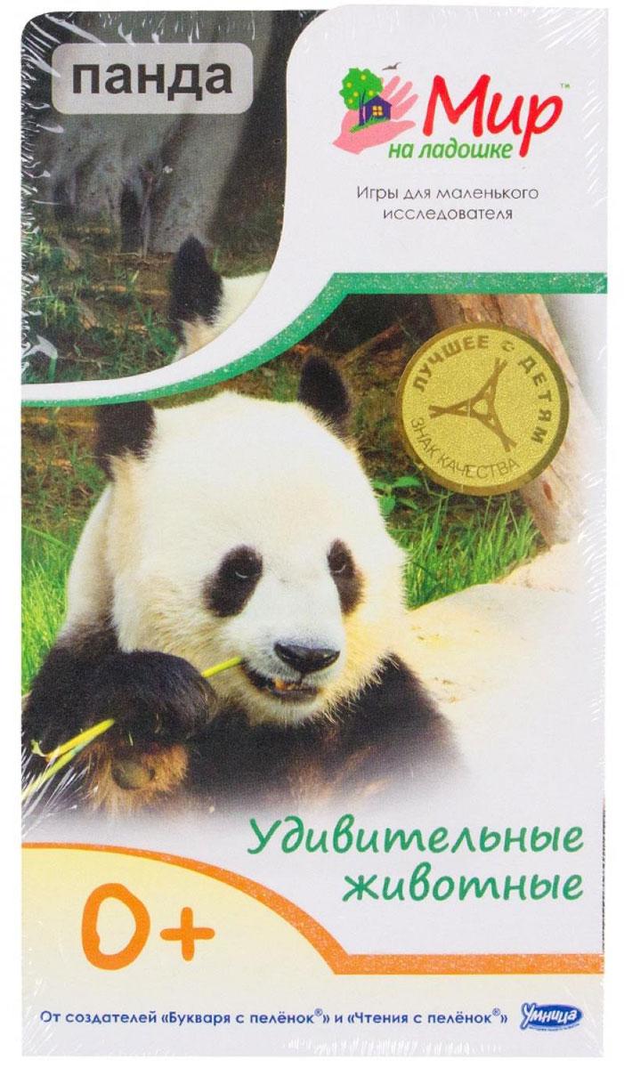 Умница Обучающие карточки Удивительные животные Панда978-5-91666-008-1Почему зебра полосатая? Кто такой черно-белый котоног? Когда жирафу мешает шея? Маленькому исследователю интересно все! Комплект Удивительные животные познакомит малыша с самыми красивыми и необычными животными нашей планеты. Изучать животных так увлекательно! Можно попрыгать, как кенгуру, порычать, как лев, и пошалить, как обезьянка! 24 карточки с яркими фотографиями удобно помещаются в детской ладошке. С ними можно играть в любом месте и в любое время. На обороте карточек собраны самые удивительные факты об окружающем мире. На каждой карточке - игра, творческое задание или загадка!