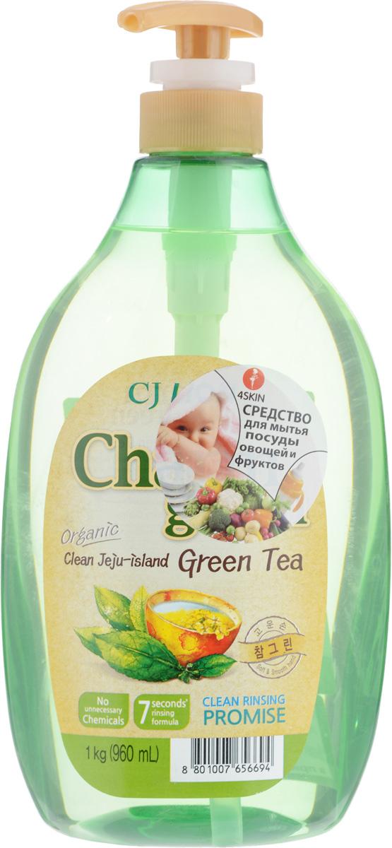Средство для мытья посуды Cj Lion Chamgreen, с экстрактом зеленого чая, 960 мл110477Средство Cj Lion Chamgreen для мытья посуды, овощей и фруктов - это средство высшего класса с вытяжкой из натурального зеленого чая. Удаляет бактерии и микробы на 99,9%, - поэтому идеально подходит даже для мытья детской посуды и бутылочек. Ключевые преимущества: - Зеленый чай ценен не только как пищевой продукт. В его составе есть компоненты, которые способны сжигать жиры, поэтому он эффективно расщепляет жир на посуде. Также, благодаря содержанию огромного количества катехина, средство успокаивающе действует на кожу рук. - Легко и без остатка смывается, даже холодной водой. - Мягко воздействует на руки – моющие компоненты на растительной основе действуют мягко, а также увлажняют кожу. - Использование высококачественных материалов растительного происхождения первого сорта позволяет использовать средство также для мытья овощей и фруктов. - Обладает приятным ароматом. Нейтральный показатель pH. Состав: Анионные ПАВ...
