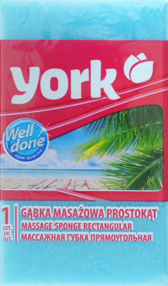 Губка для тела York, массажная, цвет: голубой, белый, 13,5 х 7,5 х 4,2 см1104/011040_голубой,белыйГубка для тела York изготовлена из мягкого экологически чистого полимера. Пористая структура губки создает воздушную пену даже при небольшом количестве геля для душа. Эффективно очищает и массирует кожу, улучшая кровообращение и повышая тонус.