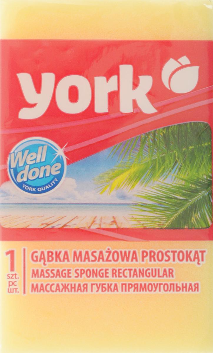 Губка для тела York, массажная, цвет: желтый, белый, 13,5 х 7,5 х 4,2 см1104/011040_желтый, белыйГубка для тела York изготовлена из мягкого экологически чистого полимера. Пористая структура губки создает воздушную пену даже при небольшом количестве геля для душа. Эффективно очищает и массирует кожу, улучшая кровообращение и повышая тонус.