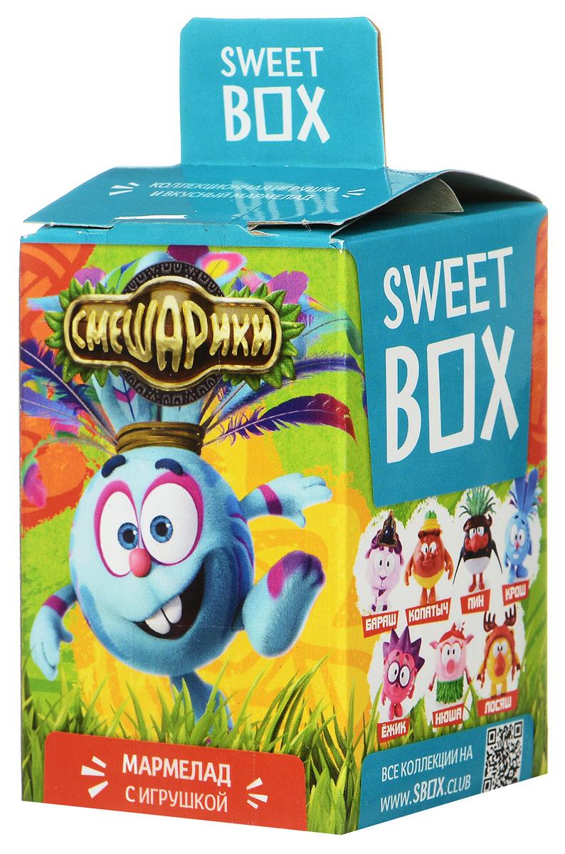 Sweet Box Смешарики мармелад жевательный с игрушкой, 10 г4680018430875Жевательный мармелад с игрушкой Sweet Box Смешарики - это не только вкусное лакомство, но и забавная игрушка, выполненная в виде одного из героев любимого детского мультфильма Смешарики. В коллекции 7 персонажей, а сама игрушка выполнены из качественного пластика. Пока не откроете коробочку - не узнаете какая игрушка вам попалась! Внимание! Игрушка предназначена для детей старше 3-х лет. Уважаемые клиенты! Обращаем ваше внимание, что полный перечень состава продукта представлен на дополнительном изображении.