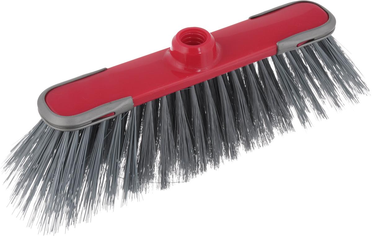 Щетка для пола York Суприм, цвет: серый, малиновый5015_серый, малиновыйЩетка York Суприм изготовлена из полипропилена и полиэтилентерефталат (ПЭТ). Мягкие волокна, расположенные в средней части щетки, идеально очистят от пыли, песка и золы, а жесткие по бокам, прекрасно справятся с более тяжелым мусором. Система анти-авария предотвращает повреждения на стенах и мебели. Изделие оснащено универсальной резьбой, которая подходит ко всем видам ручек. Размер щетки: 31 х 8 х 9,5 см. Длина ворса: 7 см. Диаметр отверстия под ручку: 2,2 см.