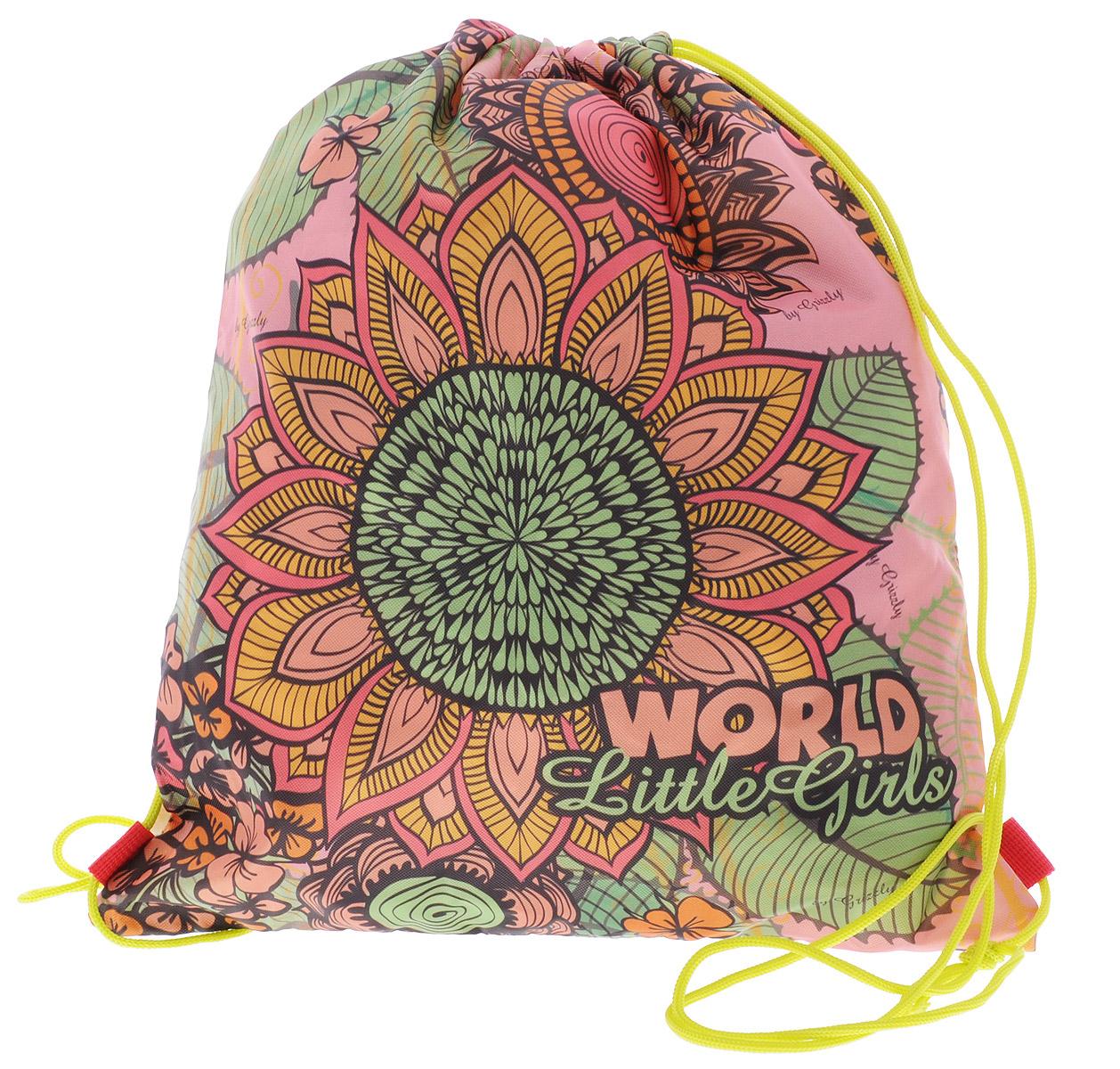 Grizzly Мешок для обуви World Little Girls цвет бежевый розовый зеленыйOM-676-4/1Мешок для обуви Grizzly World Little Girls идеально подойдет как для хранения, так и для переноски сменной обуви и одежды. Мешок изготовлен из ткани Оксфорд с водоотталкивающей пропиткой и содержит одно вместительное отделение, затягивающееся с помощью текстильных шнурков. Плотная прочная ткань надежно защитит сменную обувь и одежду школьника от непогоды, а удобные шнурки позволят носить мешок, как в руках, так и за спиной. Ваш ребенок с радостью будет ходить с таким аксессуаром в школу! Уход: протирать мыльным раствором (без хлора) при температуре не выше 30 градусов.