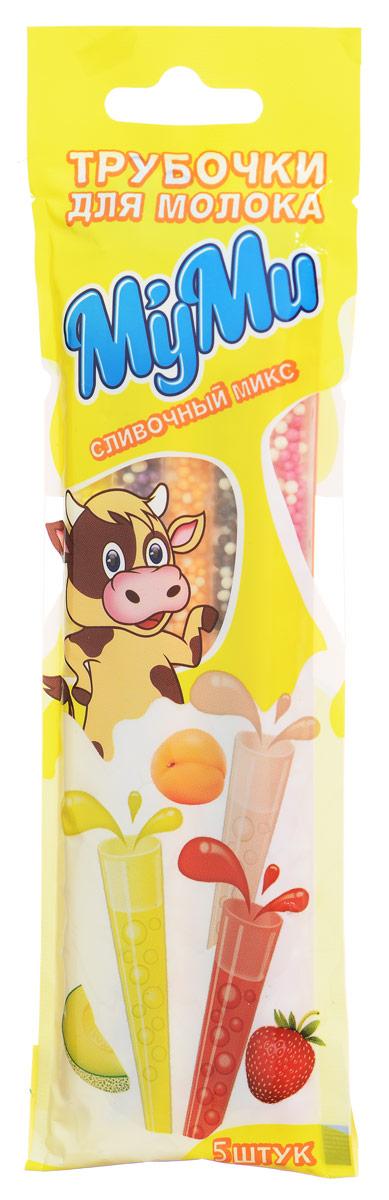 Лари Айс Муми трубочка для молока сливочный микс со вкусом: клубники, шоколада, персика, дыни, ежевики, 30 г