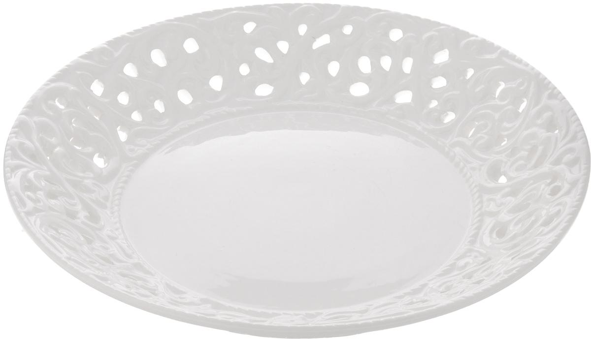 Блюдо Mayer & Boch, диаметр 23 см23803Блюдо Mayer & Boch изготовлено из доломита. Многоступенчатый высокотемпературный обжиг, двухстороннее глазурование, превращая его практически в камень, при этом защищая поверхность от царапин. Красочность оформления придется по вкусу тем, кто предпочитает утонченность и изящность. Такое блюдо украсит сервировку праздничного или обеденного стола и подчеркнет ваш безупречный вкус. Рекомендуется мыть в теплой воде с применением мягких моющих средств. Диаметр блюда (по верхнему краю): 23 см.