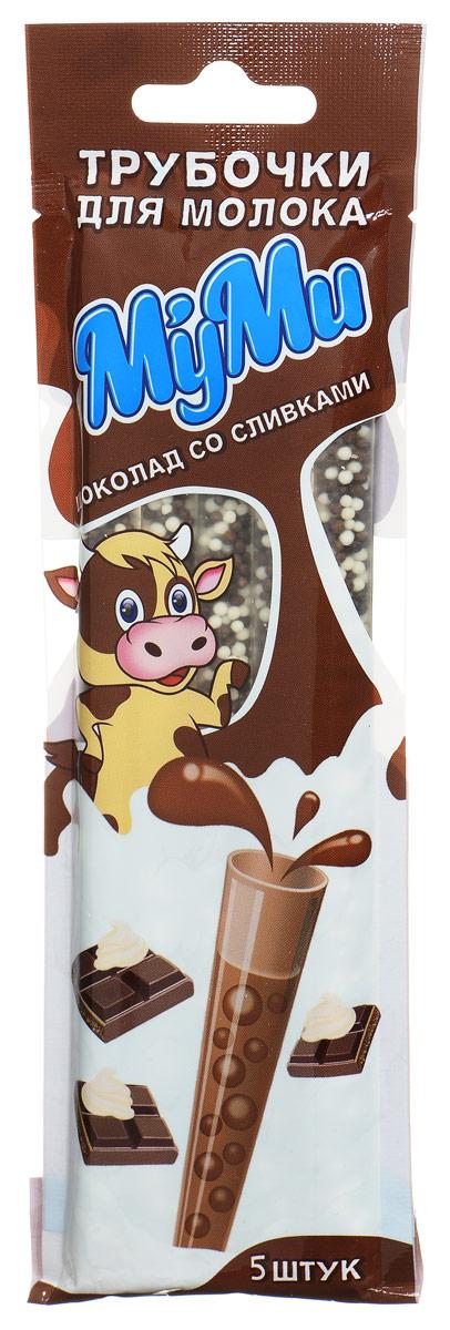 Лари Айс Муми трубочка для молока со вкусом шоколада со сливками, 30 г