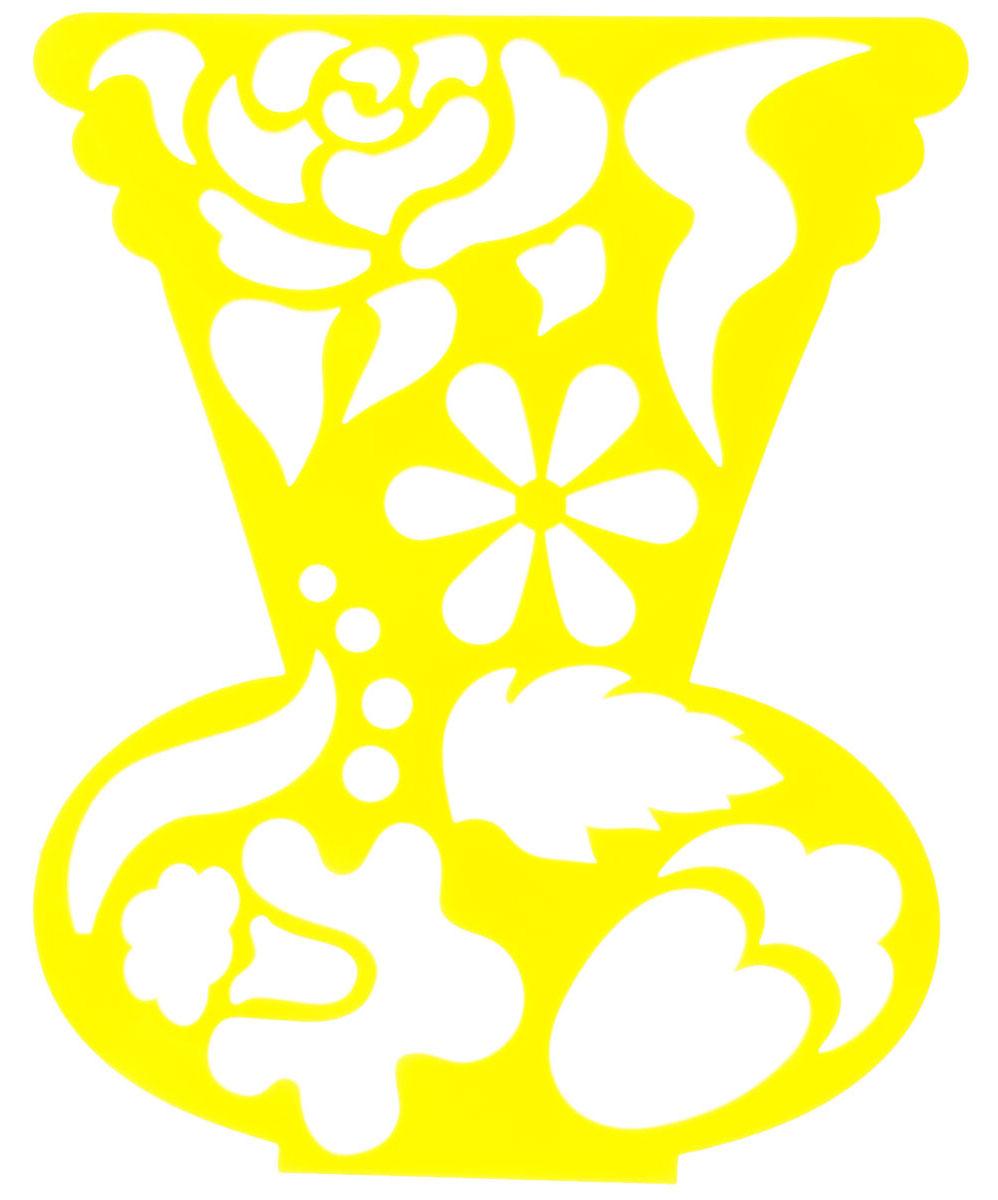 Луч Трафарет фигурный Ваза с цветами цвет желтый19043_желтыйФигурный трафарет Луч Ваза с цветами, выполненный из безопасного пластика, предназначен для детского творчества. При помощи этого трафарета ребенок может создать красивый букет цветов и поместить его в вазу. Трафарет можно использовать для рисования цветов и композиций из них, а также для изготовления аппликаций. Трафареты предназначены для развития у детей мелкой моторики и зрительно-двигательной координации, навыков художественной композиции и зрительного восприятия.