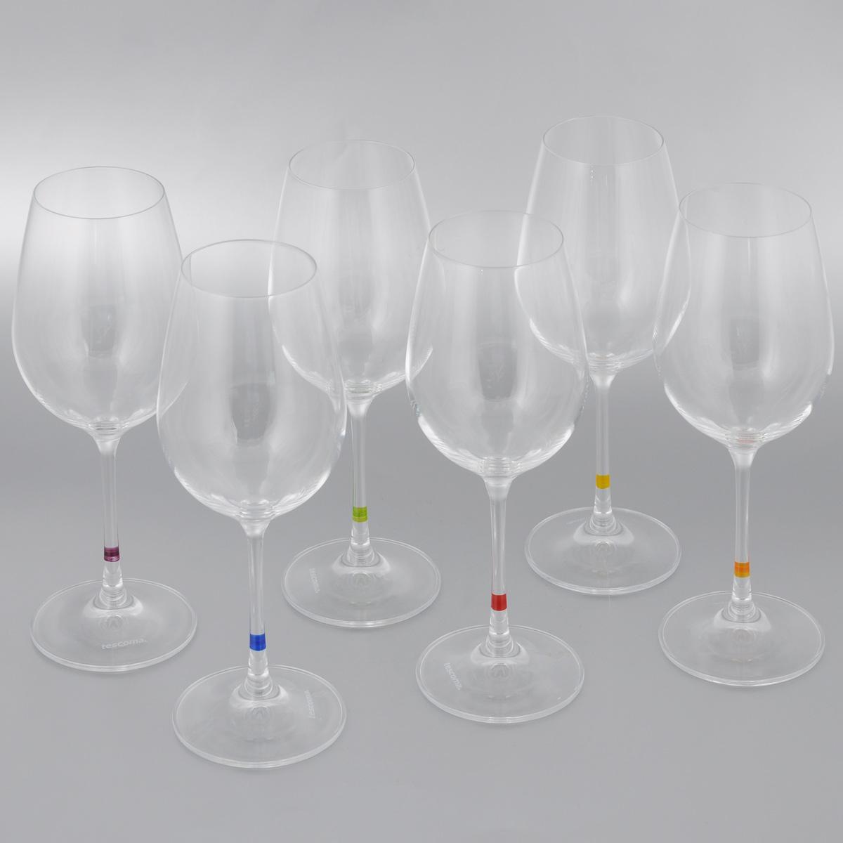 Набор бокалов для вина Tescoma Uno Vino, 350 мл, 6 шт695494Набор Tescoma Uno Vino, выполненный из прочного стекла, состоит из шести бокалов. Изделия предназначены для подачи вина. Они сочетают в себе элегантный дизайн и функциональность. Набор бокалов Tescoma Uno Vino прекрасно оформит праздничный стол и создаст приятную атмосферу за романтическим ужином.