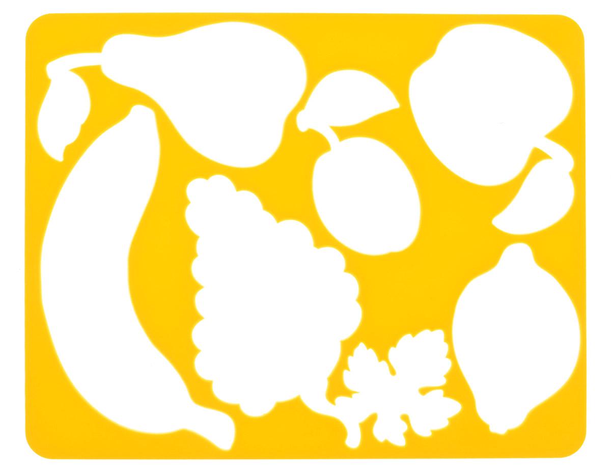 Луч Трафарет Фрукты цвет темно-желтый19081Трафарет прорезной Луч Фрукты, выполненный из безопасного пластика, предназначен для детского творчества. По трафарету маленький художник сможет нарисовать и отдельные виды фруктов, и композиции из них. Для этого необходимо положить трафарет на лист бумаги, обвести фигуру по контуру и раскрасить по своему вкусу или глядя на цветную картинку-образец. Трафареты предназначены для развития у детей мелкой моторики и двигательной координации, навыков художественной композиции и зрительного восприятия.