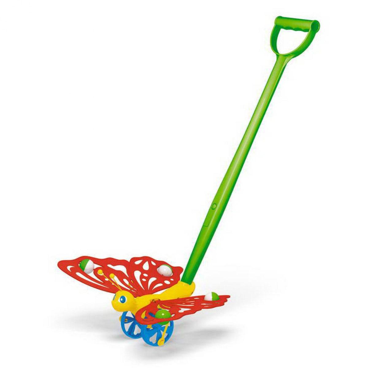 Stellar Игрушка-каталка Бабочка01363Яркая игрушка-каталка Stellar Бабочка непременно понравится вашему малышу и подойдет для игры, как дома, так и на свежем воздухе. Игрушка выполнена из прочного пластика в виде симпатичной бабочки на колесиках. Бабочка порадует малыша своим веселым видом и движущимися крыльями. Игрушка-каталка Stellar Бабочка развивает пространственное мышление, цветовое восприятие, тактильные ощущения, ловкость и координацию движений.