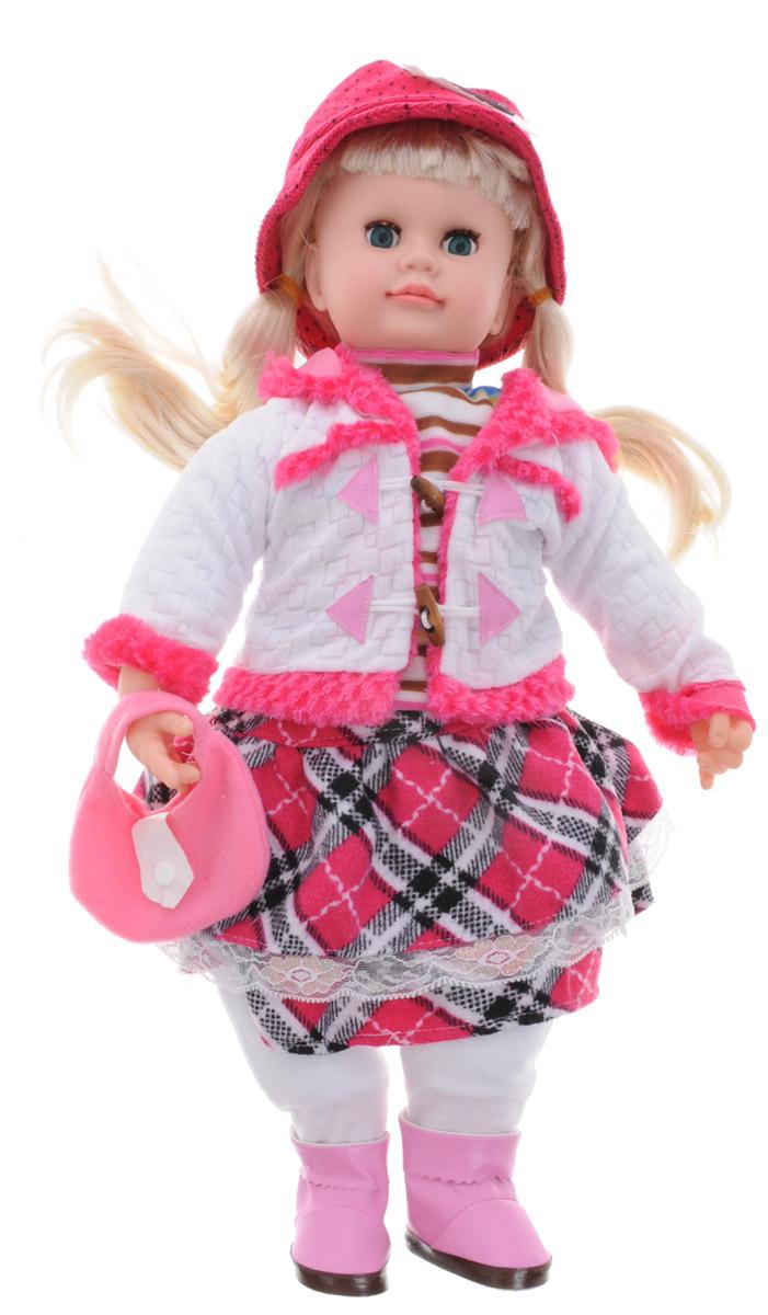 Карапуз Интерактивная кукла Аленка блондинка цвет наряда розовый белый107695 / 5106_блондинка в белом, розовом нарядеИнтерактивная кукла Карапуз Аленка - великолепная кукла, понимающая вашего ребенка, реагируя на фразы. Она поет песенки, знает стихи, скороговорки, загадки и считалочки. С ней можно играть в 7 различных игр. Игра Алфавит - Аленка произносит все буквы алфавита с паузами, давая время ребенку повторять следом за ней. После того, как Аленка произнесет все буквы, на каждую из них она расскажет маленькое стихотворение. Игра Считалочка - вместе с Аленкой ваша девочка сможет научиться считать, а чтобы цифры лучше запомнились, кукла рассказывает куриную считалочку. Игра Загадки - кукла Аленка знает 7 различных загадок, которые будет вам загадывать. Все загадки предполагают 2 ответа: да или нет. Игра Скороговорки - Аленка знает 2 скороговорки: про Грека и про маленьких чертят. Сначала она предложит вам рассказать скороговорку про Грека, если вы скажете: Нет, то она прочтет скороговорку, про маленьких чертят. Каждую скороговорку Аленка...